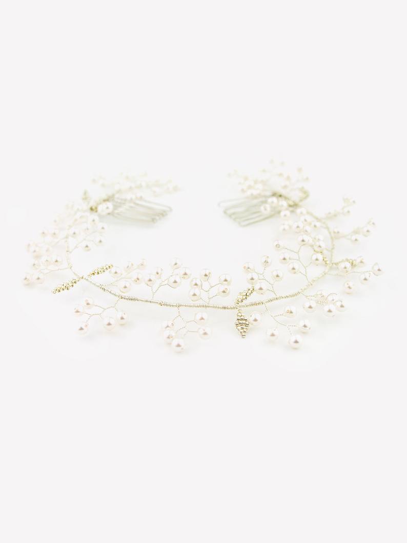 LEANA  versatile wreath/crown as wedding/ bridal hair