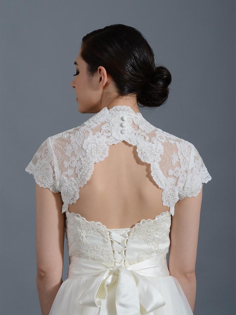 Lace bolero lace shrug wedding bolero ivory bolero wedding