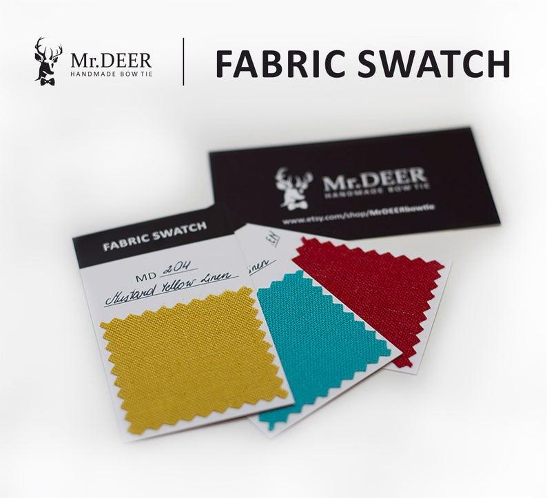MD140-MD270 Mr.Deer handmade bow tie FABRIC SWATCH