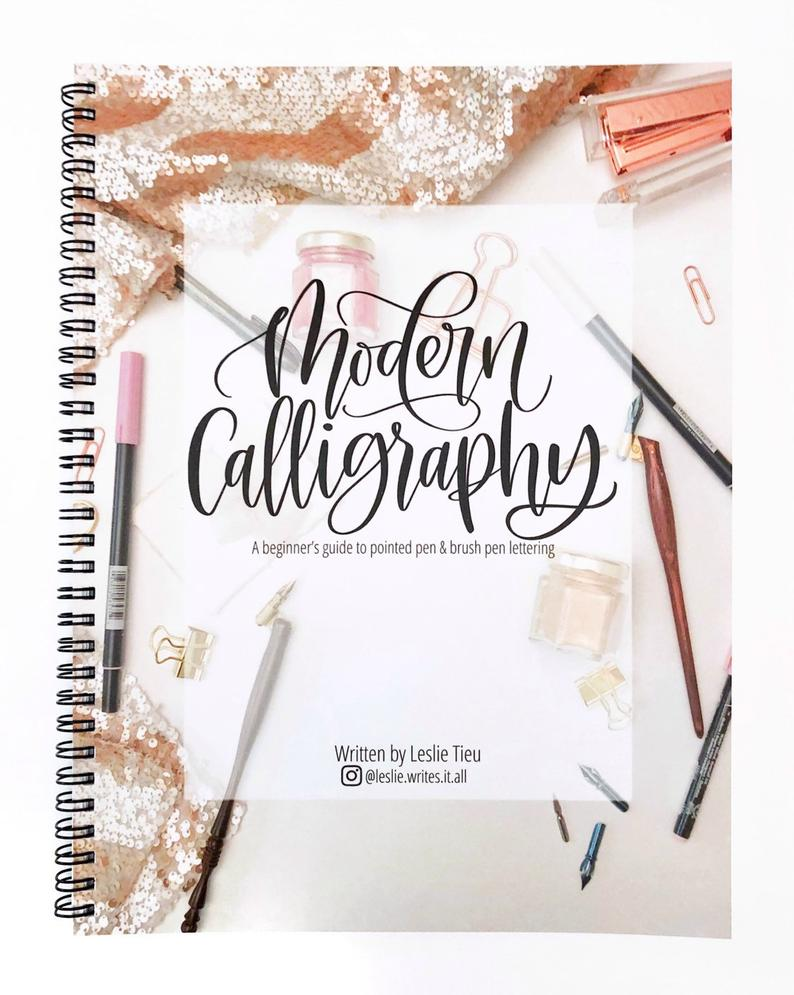 Modern Calligraphy KIT: includes 1 book and 2 pens plus bonus