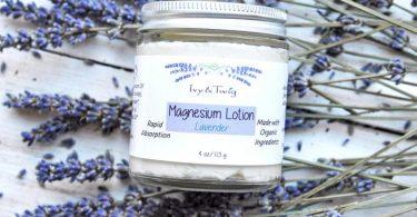Organic Magnesium Lavender Body Lotion  Vegan Body Butter