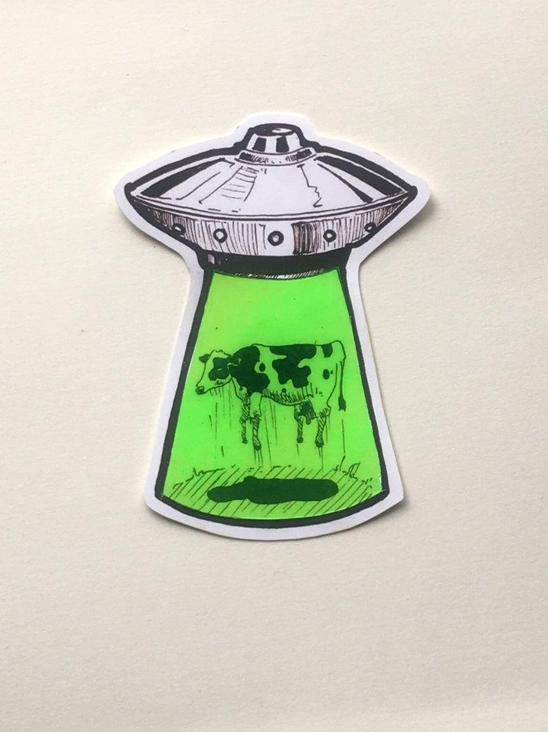 Psychedelic Alien sticker
