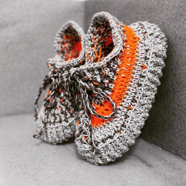Romeo Marble Orange/Grey Booties