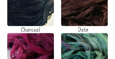 Sari Ribbon  Pick Your Color  Recycled Silk and Fabric