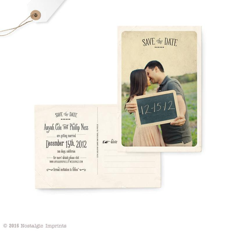 Save the Date Postcard Wedding Save the Date Card Photo