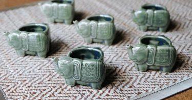 Set of 6 Napkin Rings Napkin Holder Napkin Ring Elephant