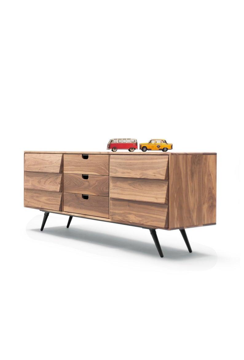 Sideboard / cupboard / credenza in solid board oak / walnut