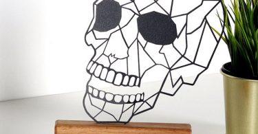 Skull Metal Wood Decor