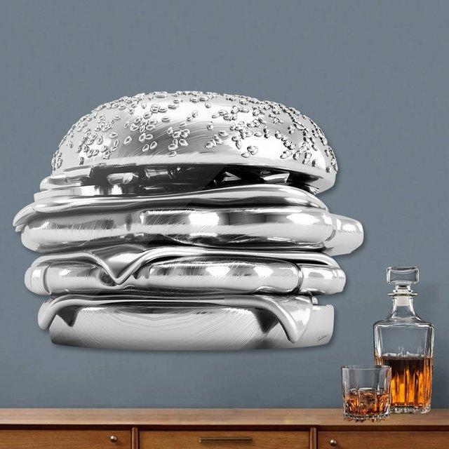 Sliver Burger Die-Cut Print by Antoni Tudisco