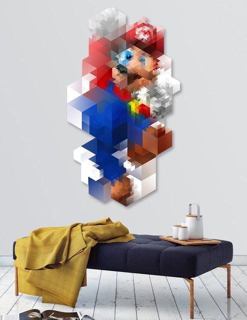 Super Mario Die Cut Print by Nicola felasquez Felaco
