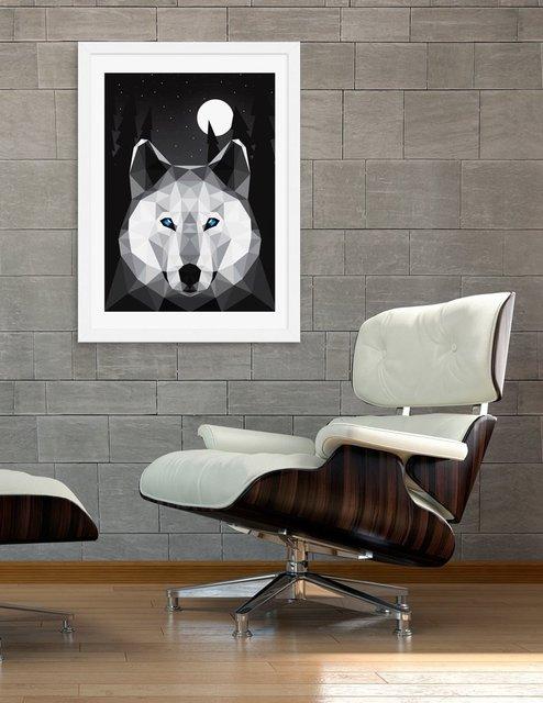 The Tundra Wolf, Fine Art Print by David Iwane
