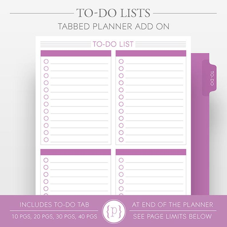 To-Do List Pages