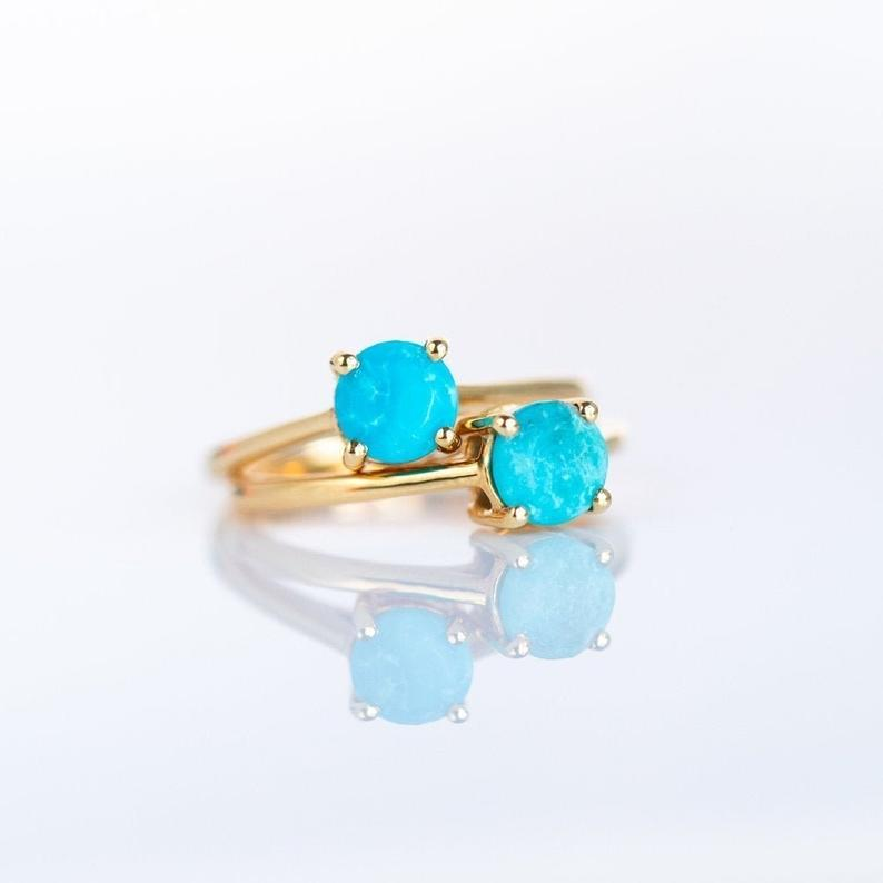 Turquoise Ring Gold Ring Rings for Women Turquoise Gold