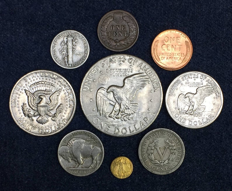US Collection of Old Coins / Silver Coin / Gold Coin / Ike