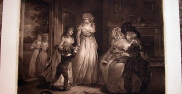 Visit to the Boarding School by Moreland Mezzotint