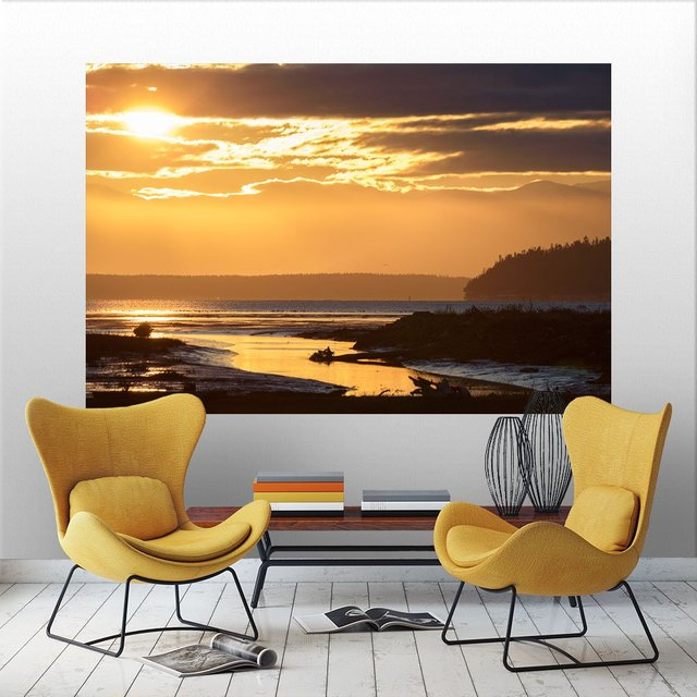 Warm Glow II Canvas embossed Self-Adhesive Mural, 72 x 48 inches