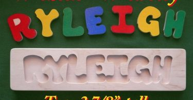 Wooden Name Puzzle  Personalized with Your One-Name  Gift: