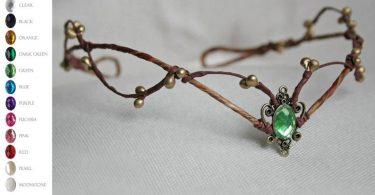 Woodland elf tiara  elven headpiece  fairy crown woodland
