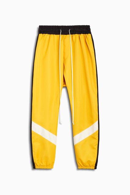 parachute track pant ii / yellow + black + ivory