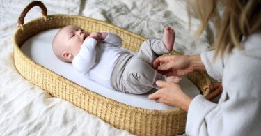 Baby Changing Table Basket by Design Dua  Organic Changing