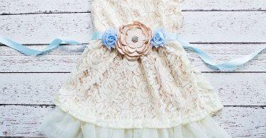 Boho flower girl dress  Flower Girl Dresses Champagne flower