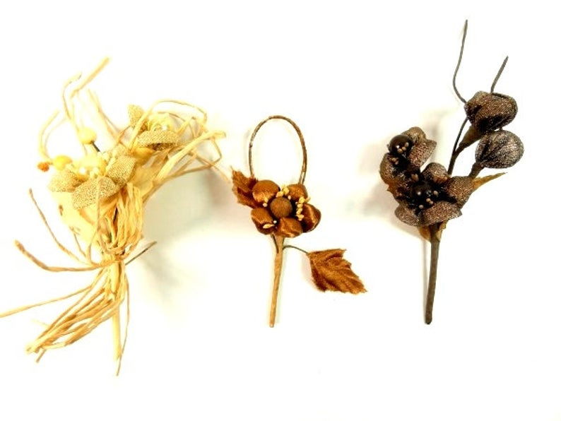 Brown Beige Corsages Fake Corsages Artificial Corsages Craft