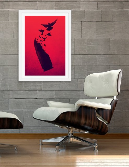 Bullet Birds, Fine Art Print by Victor Vercesi