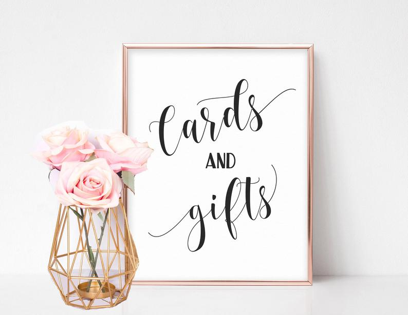 Cards and Gifts Wedding Sign Cards and Gifts Sign Cards and