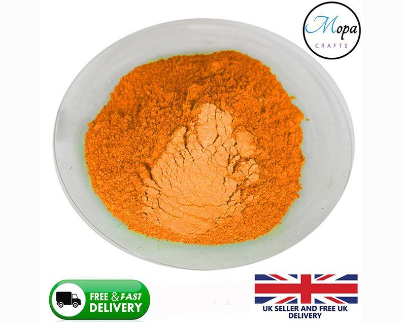 Cosmetic Mica Powder Tangerine Orange Pigment Soap Bath Bombs