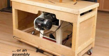 DIY Tablesaw Workbench / Outfeed Table Woodworking Plans