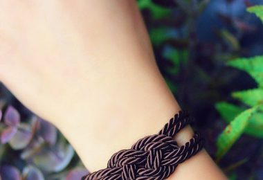 Dark Brown Bracelet Brown Rope Knot Bracelet Rope Bracelet