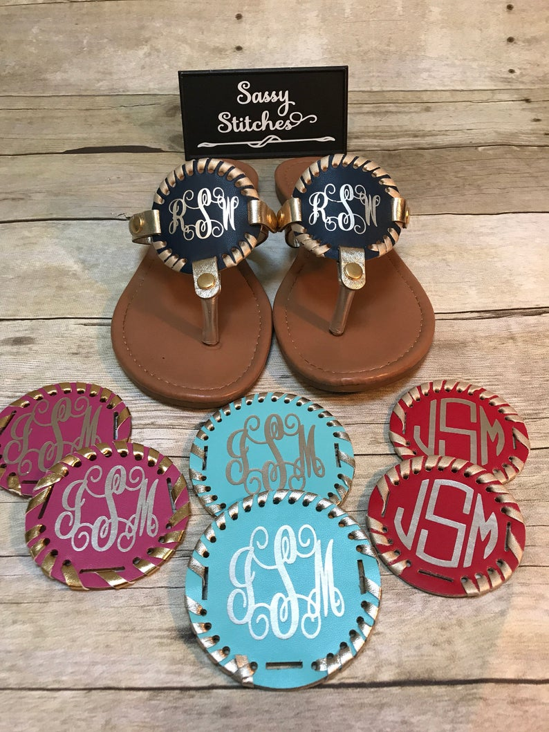 Extra disc for sandals monogrammed disc for sandals