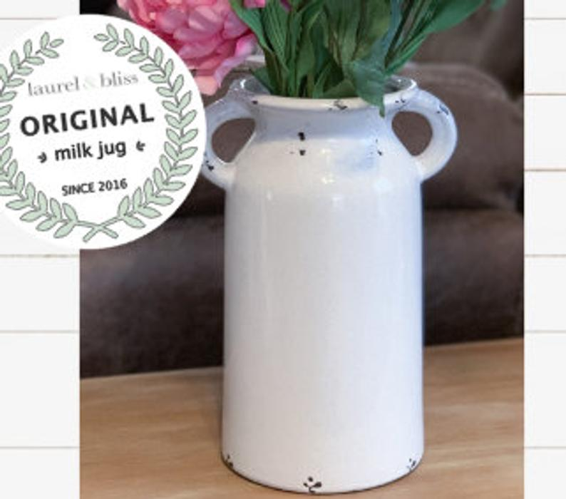 Farmhouse style milk can home decor wedding decoration