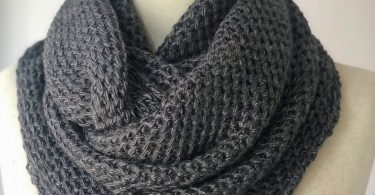 Fast delivery Knit scarf infinity scarf Cowl scarf Dark