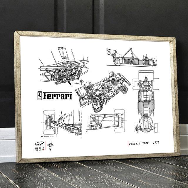 Ferrari 1975 F1 Poster