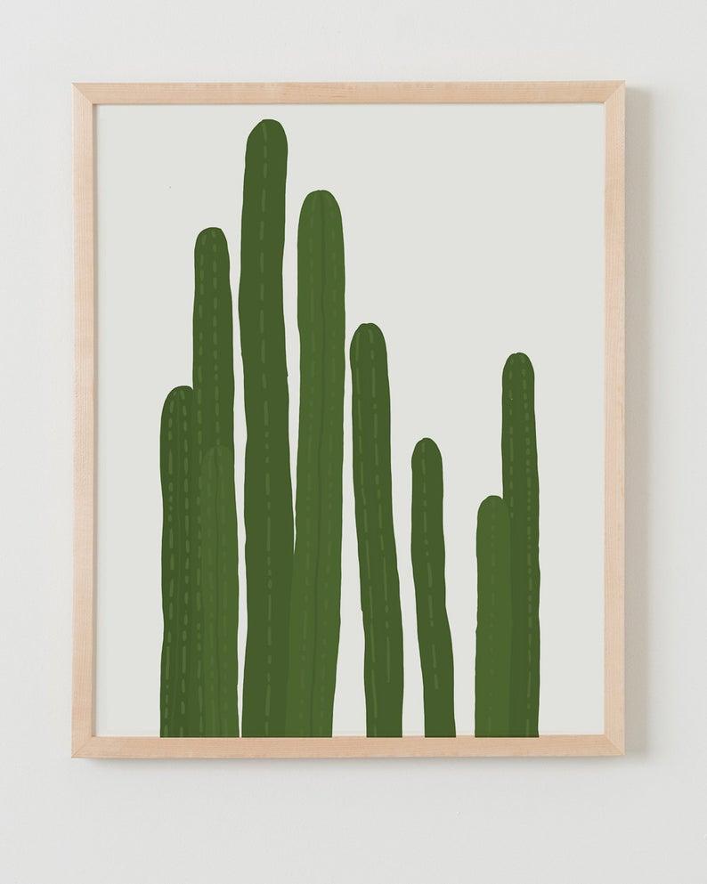 Fine Art Print.  Cactus.  October 21 2015.
