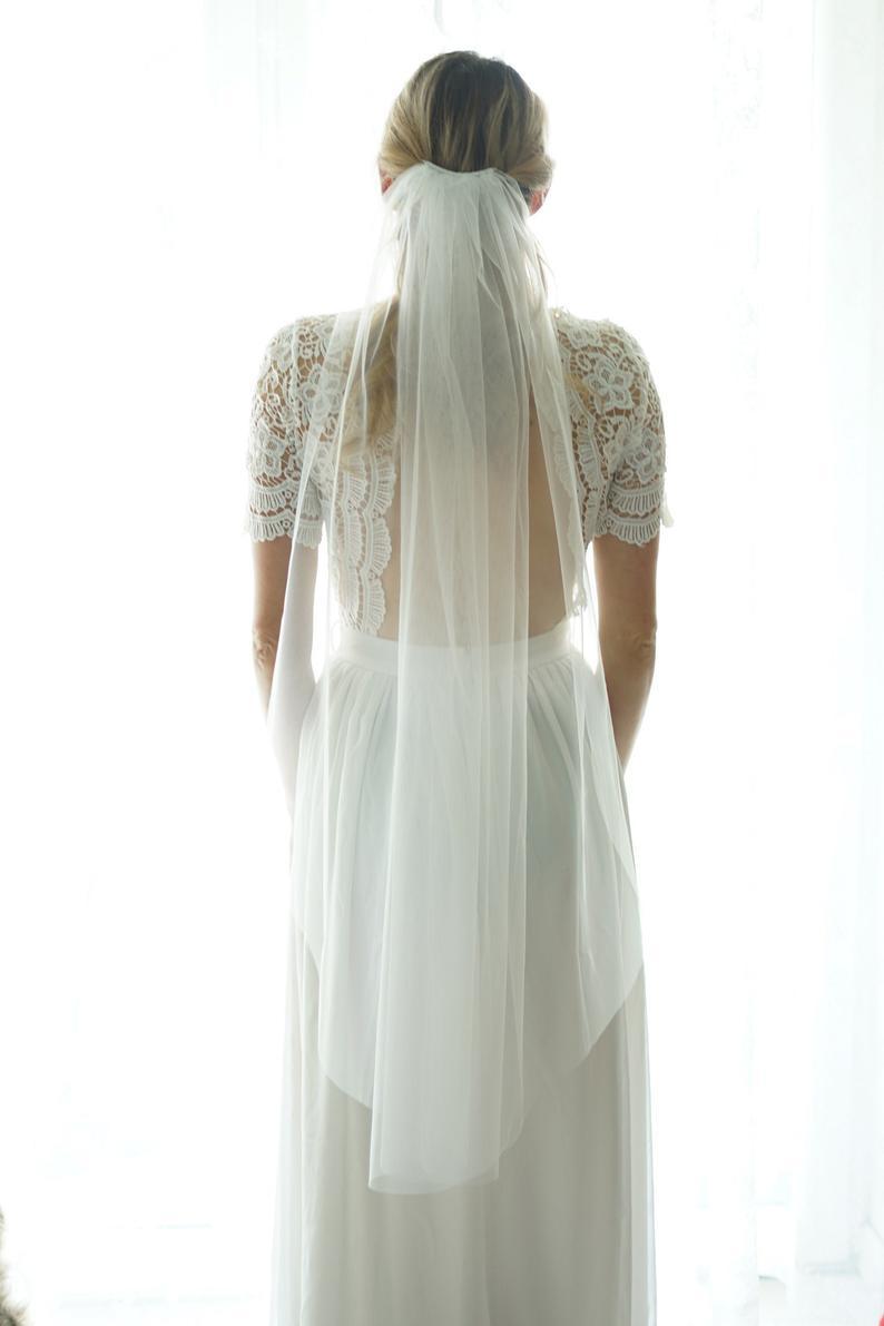 Fingertip length Wedding Bridal Veil white veil ivory veil