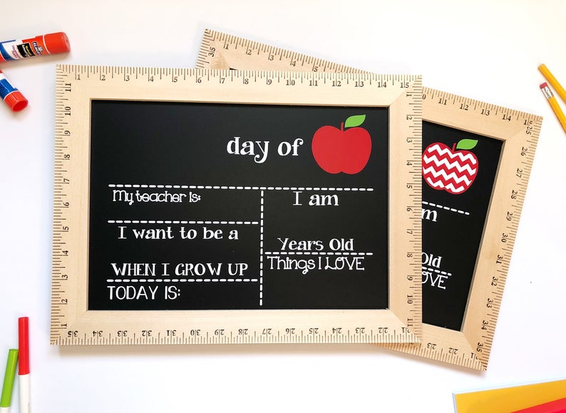 First Day of School Sign First Day of School Chalkboard