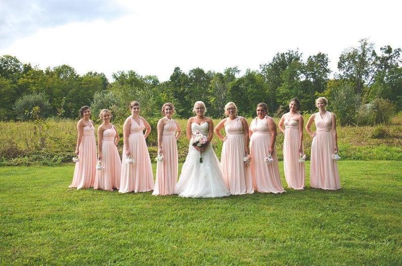 Floor Length LONG Ball Gown Maxi Infinity Dress Convertible