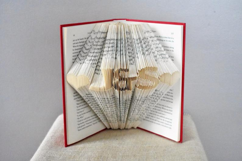 Folded Book Art Unique Gift for the Couple Wedding Gifts