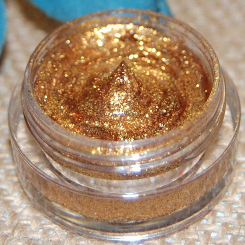 GOLD GLITTER All Natural Vegan Glitter Makeup Gel
