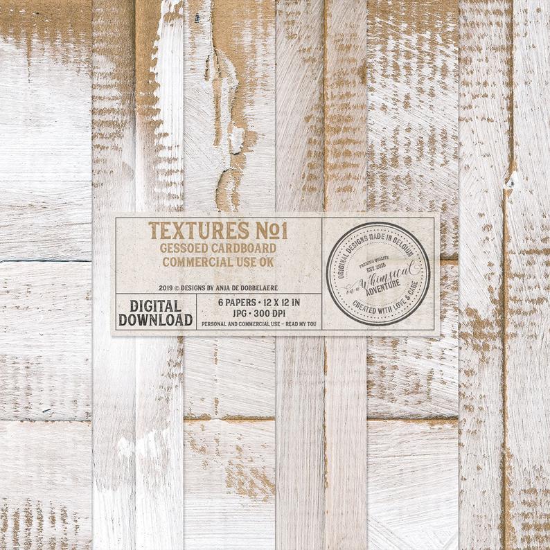 Gesso Paper Gessoed Cardboard Backgrounds Digital Papers