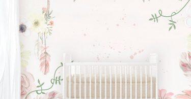 Girls Boho Floral Wallpaper