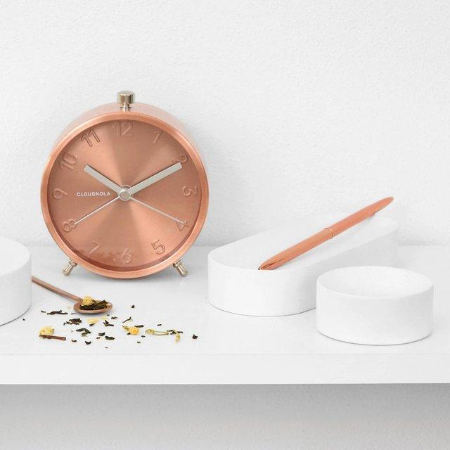 Glam Copper Alarm Clock