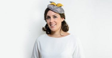 Grey cocktail hat gray wedding hat ascot hat pillbox hat