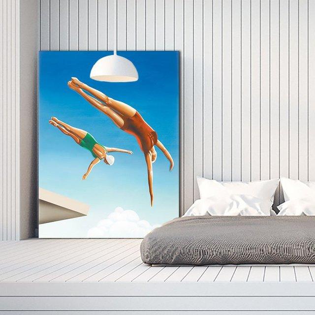 High Dive Giant Canvas Print