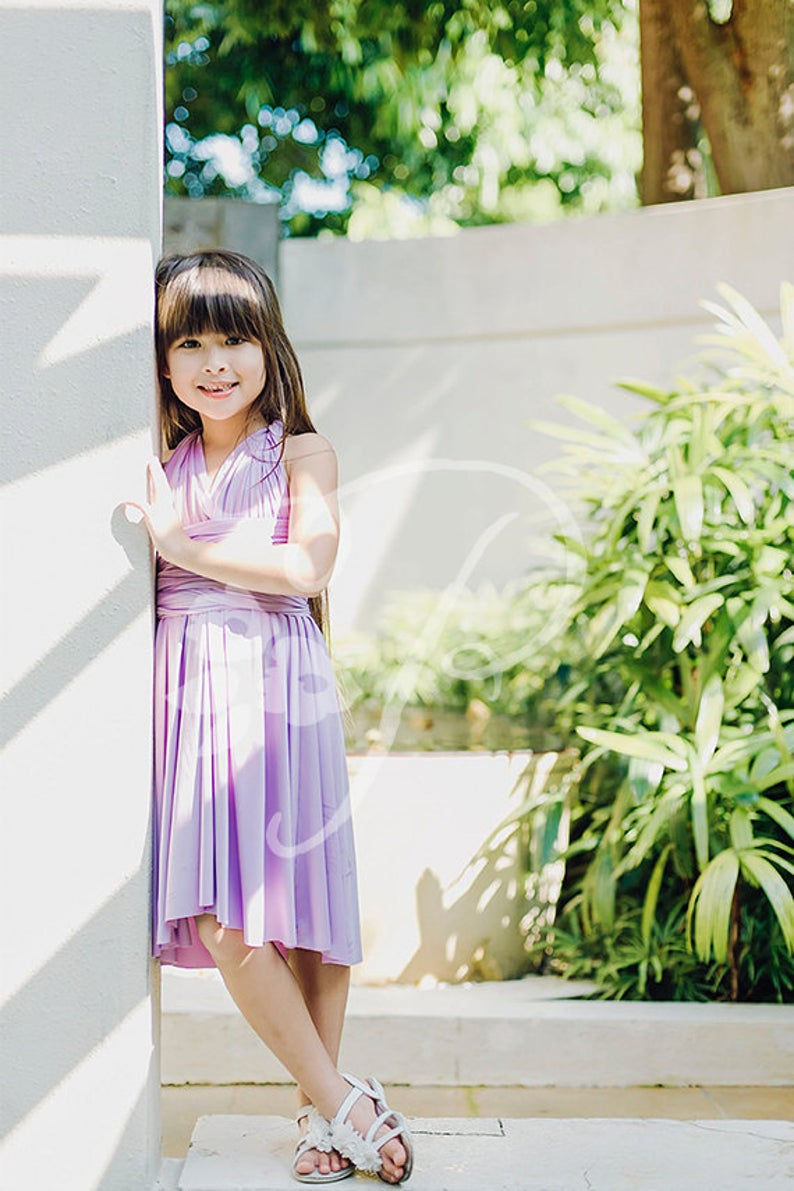 Junior / Mini Bridesmaid Dress Infinity Dress Lilac