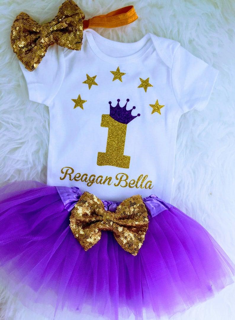 Lavender & gold 1st birthdayTwinkle little star One year old