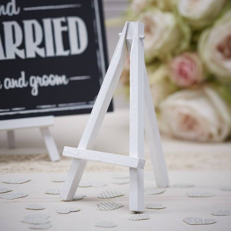 Mini White Wooden Easel Wedding Decorations Table centre