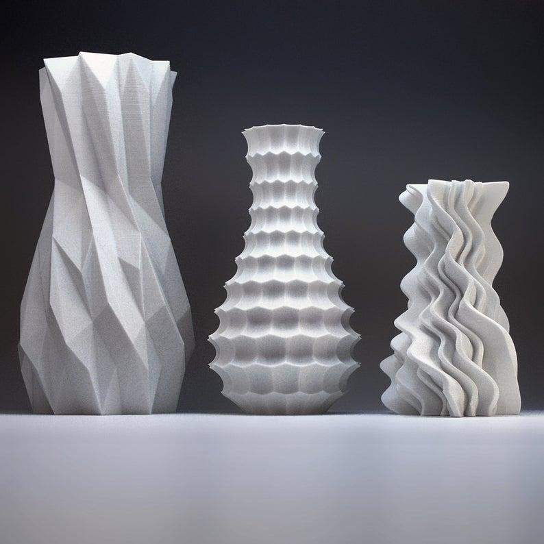 Modern Home Decor Bud Vase Set  Geometric Vase  Art Vases
